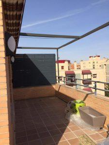 Una de las terrazas antes